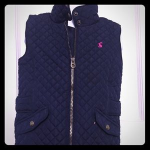 Joules Navy Quilted Vest